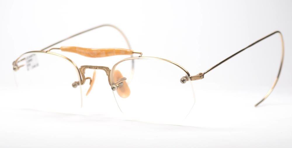 Antike Brille aus den 30er/ 40er Jahren in Golddouble