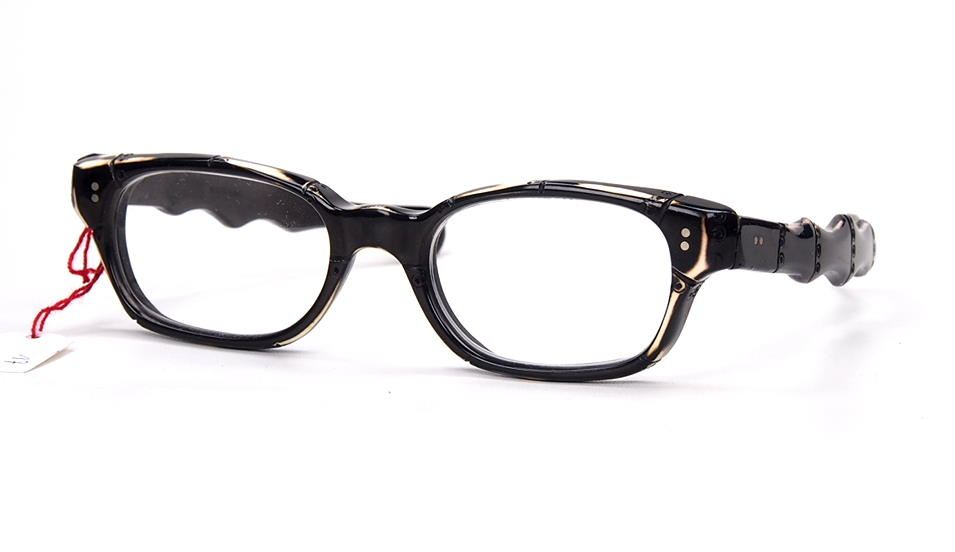 Rockabilly Brille der 50er Jahre im Bambusdesign fabrikneu und ungetragen