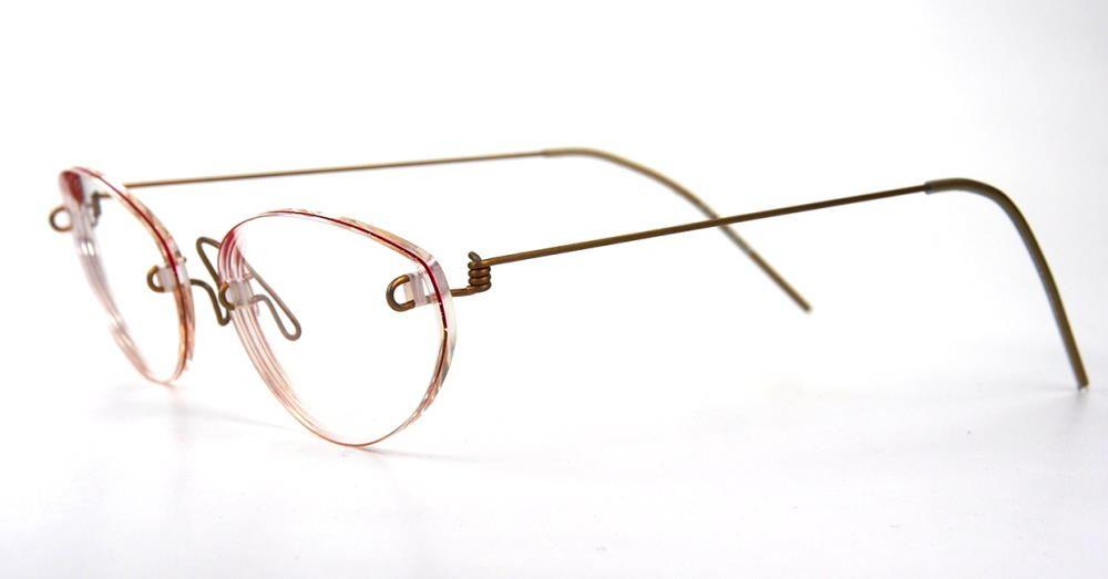 Lindberg Vintagebrille aufgearbeitet mit optischen Gläser im Top Zustand aus Titan
