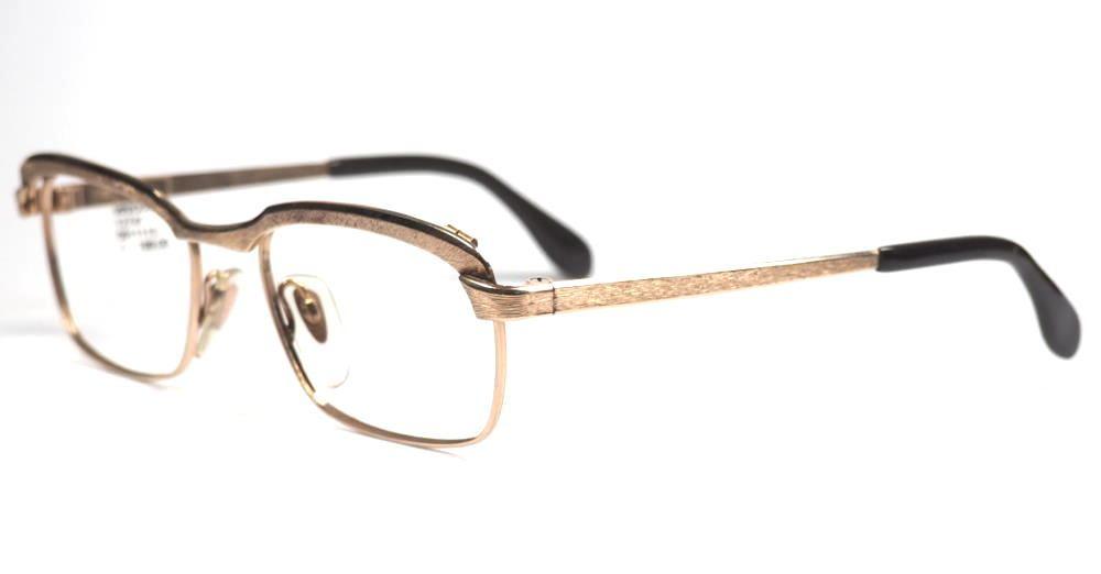 Golddouble Brille von Metzler, Made in Germany aus den 70er Jahren echt Vintage, second hand