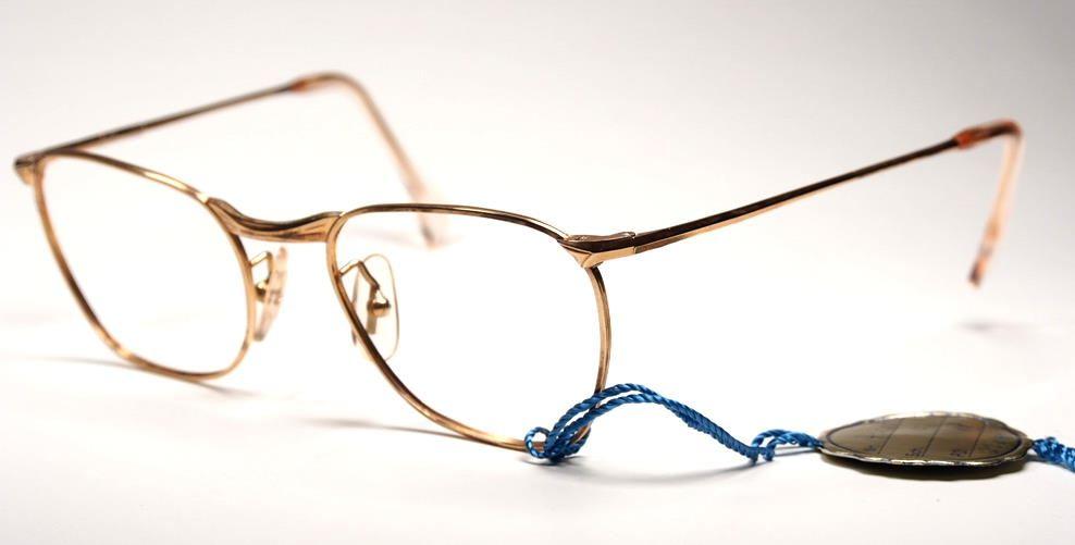 Antike Golddouble Brille aus den 30er/40er Jahren 12748