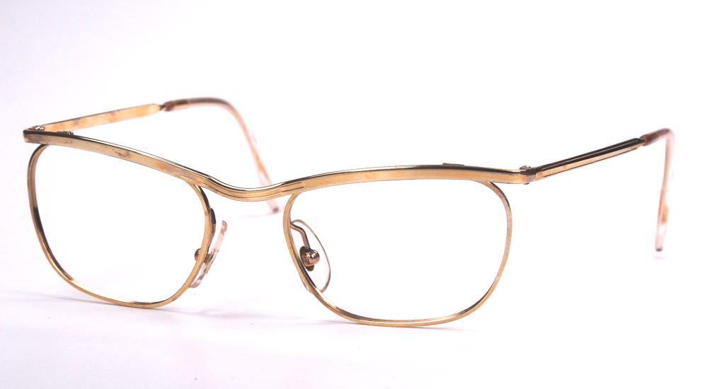 Cateye brille, 12 Karat Golddouble Brille der 50er Jahre 129518