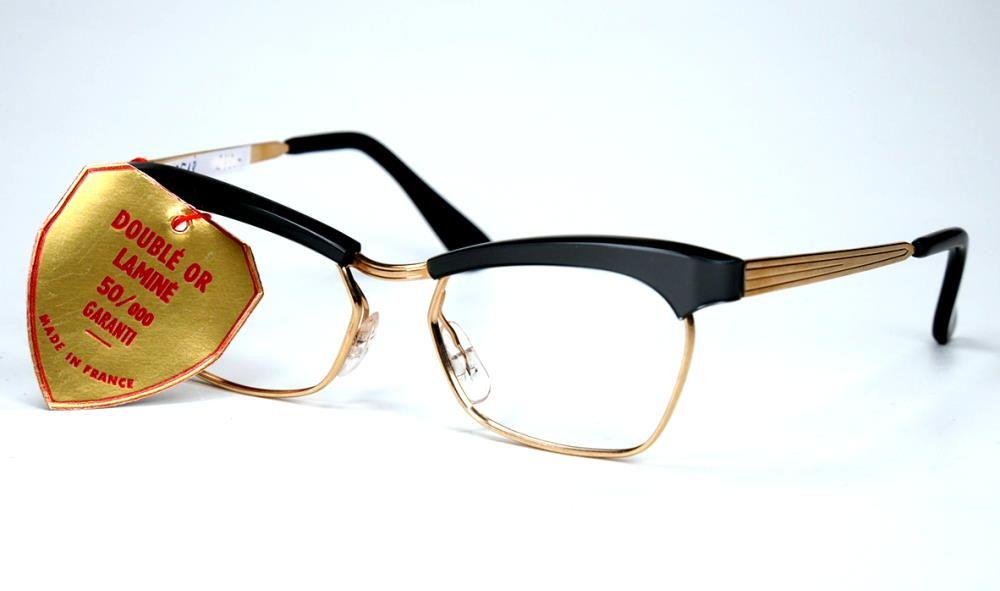 Schmetterlingsbrille, Cateyebrill, Rockabillybrille 50er Jahre True Vintage