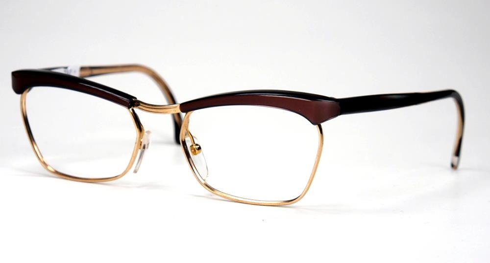 Schmetterlingsbrille, Cateye Brille, Rockabillybrille 50er Jahre True Vintage