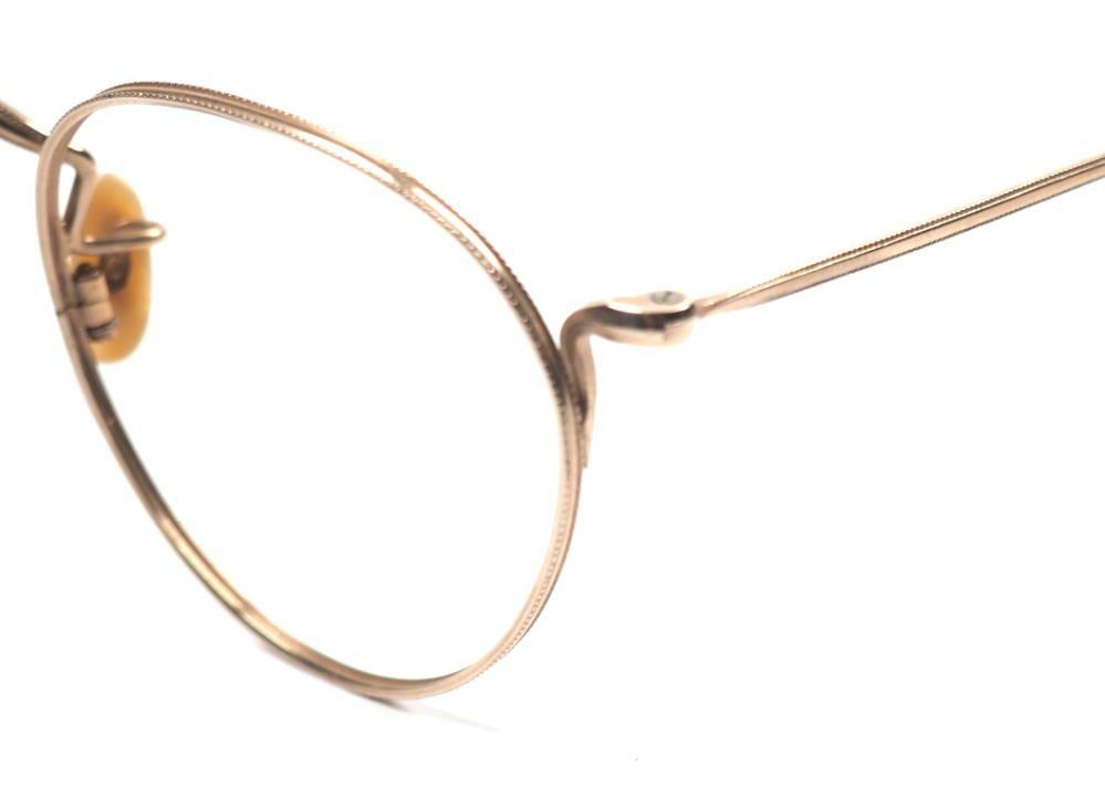 Pantobrille aus Golddouble aus den 30er Jahren, mit feinstem Golddouble