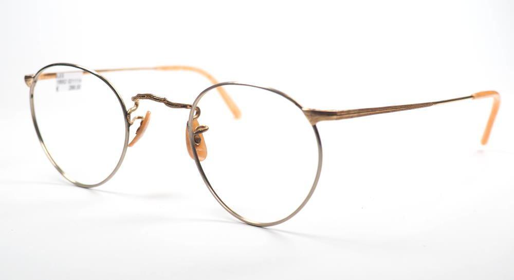 Pantobrille aus Golddouble aus den 30er Jahren mit feinstem Golddouble