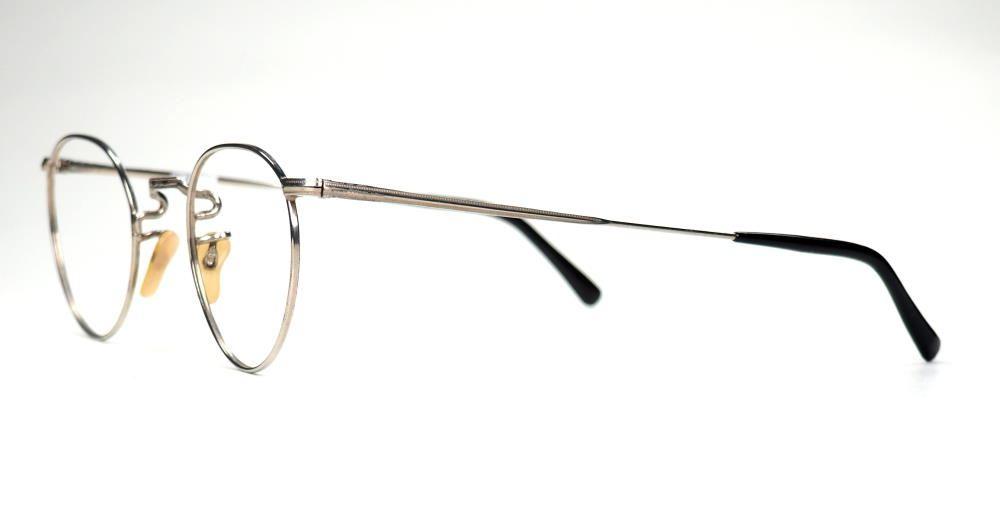 antike Pantobrille aus Neusilber original aus den 30er Jahren 19625