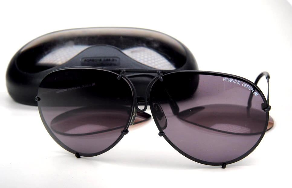 Porsche Carrera Design Sonnenbrille Modell 5621 90 schwarzmatt mit Ersatzscheiben und Etui