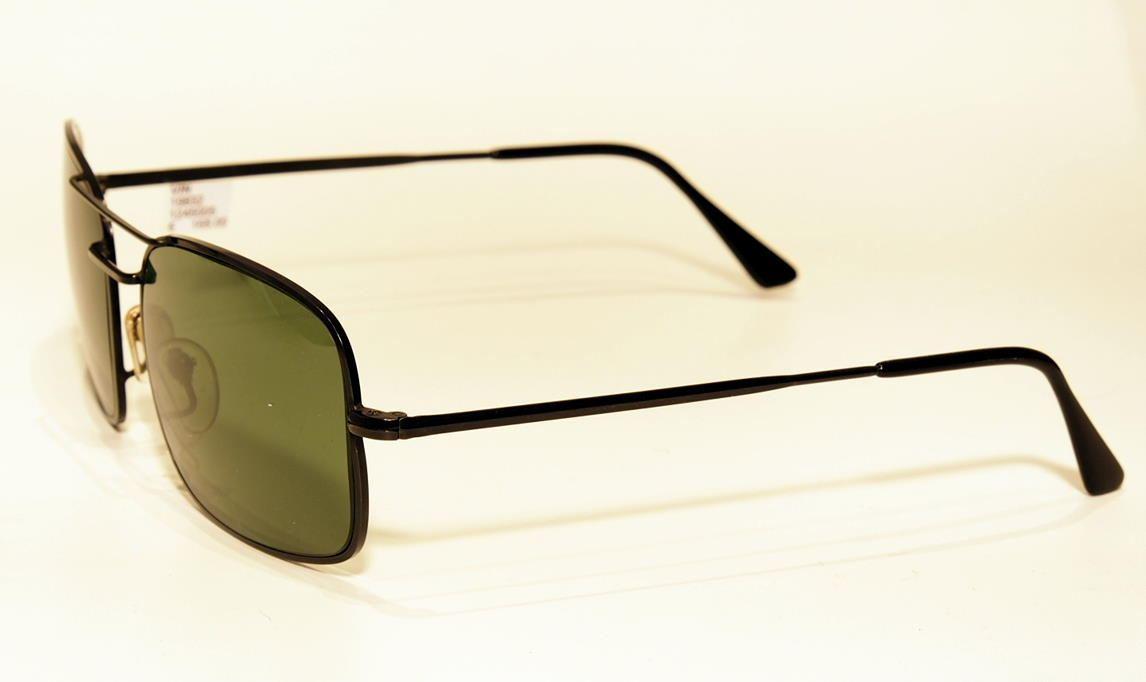Vintage Sonnenbrille der 80er Jahre schwarzer Metallrand.Ray Ban Look