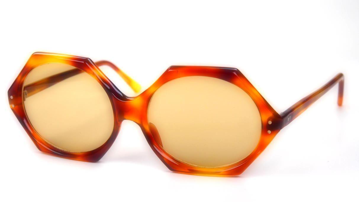 Sonnenbrille der 70er Jahre besondere oval eckige Sonnenbrille