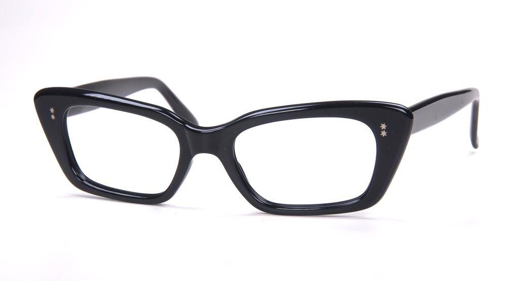 True Vintage  Brille aus den  Siebzigern in schwarz aus Acetat