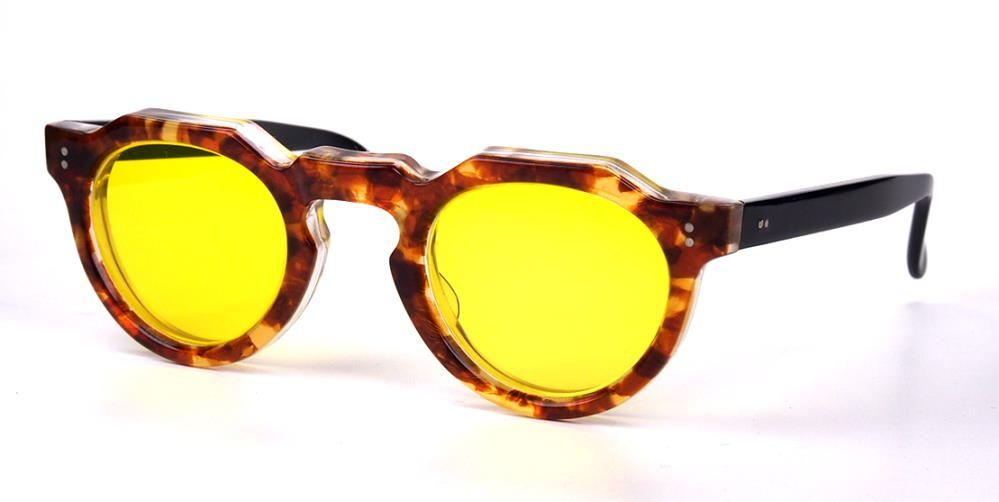 Vintagebrille der 40er Jahre, gelben Gläsern