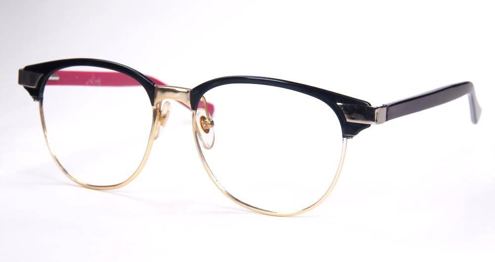 60er Jahre Herrenbrille aus Metall und Kunststoff, Rockabilly Brille,