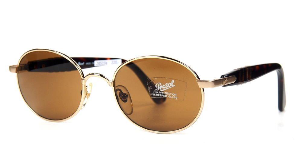 Persol Sonnenbrille 2021S U V Protection Vintage Brille mit dkl. Gläsern