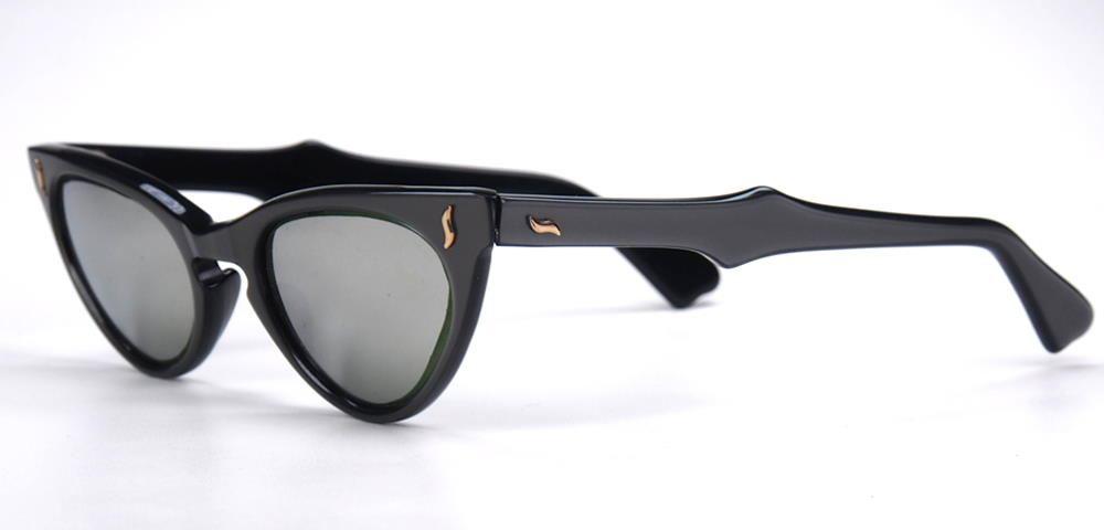 Cateye-Sonnenbrille, Schmetterlingsbrille aus den 50er Jahren, verspiegelte Gläser,