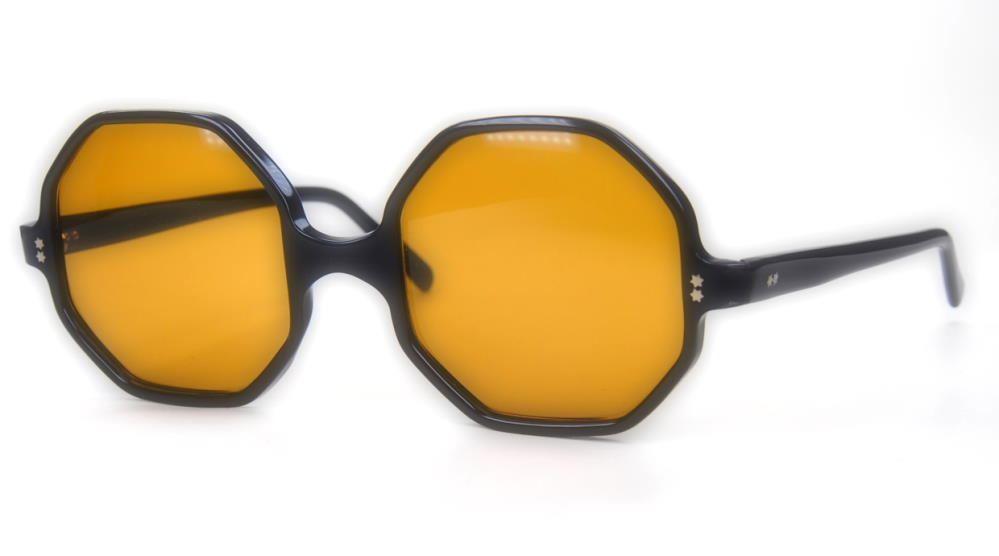 Sonnenbrille der 70er Jahre achteckig, fabrikneu.