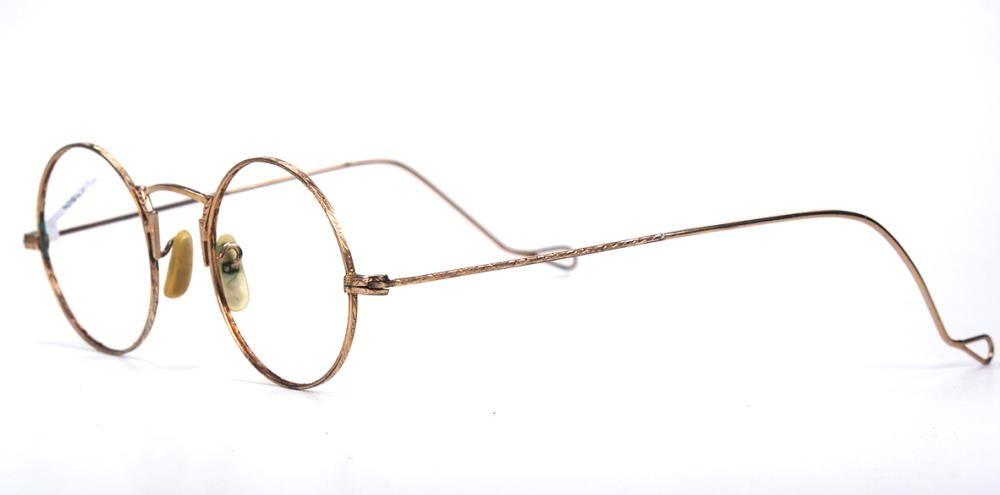Antike, runde, wertvolle Brille aus den 30er Jahren in Golddouble