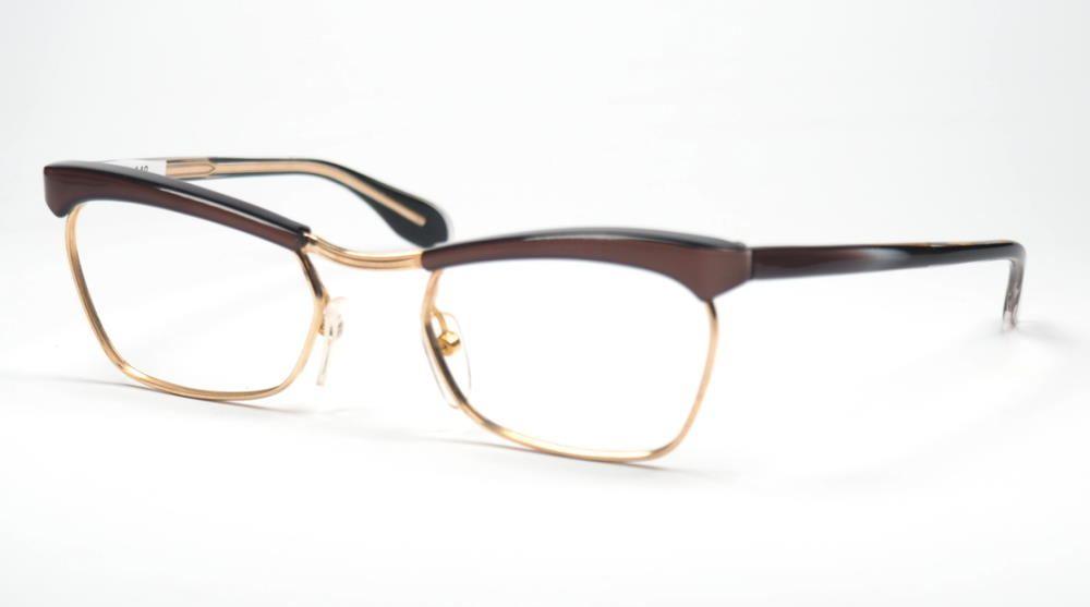 Rockabilly, Golddouble Kombibrille echt Vintage aus den Fünfzigern noch fabrikneu