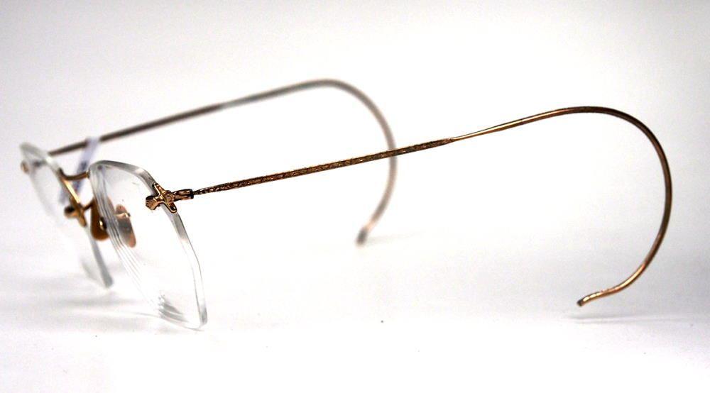 Brille aus den 30er Jahren aus Golddouble