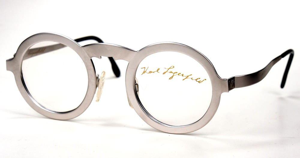 Karl Lagerfeld Brille Sonderedition, Einzelstück silbermatt