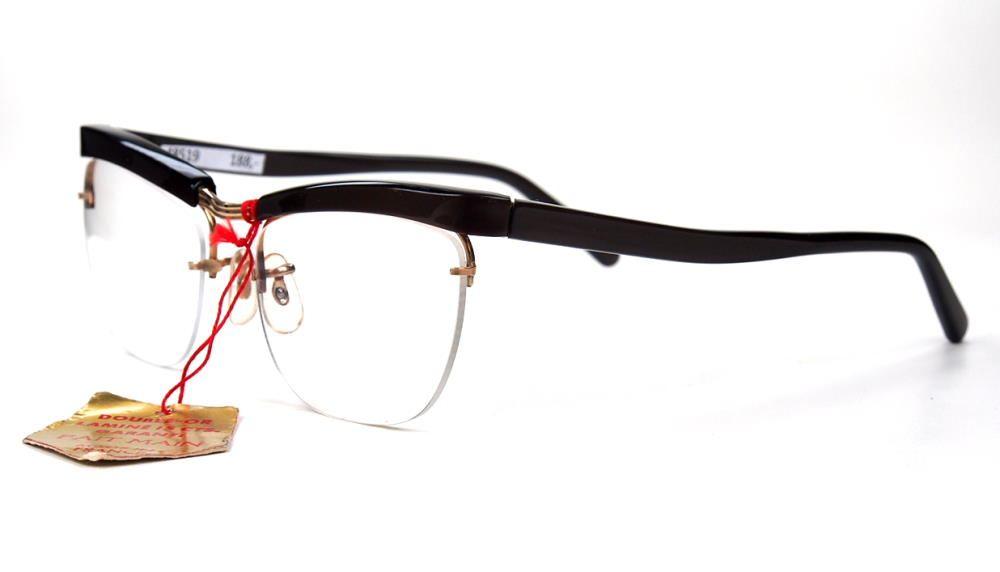Rockabilly Brille der 50er Jahre, Vintage Brille, aus Golddouble