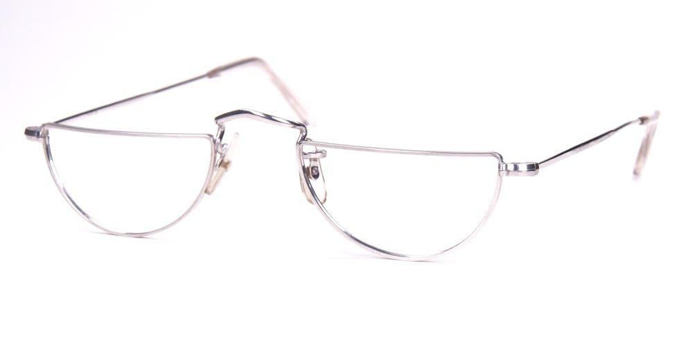 Algha Diaflex Vintage, savile row, 14 Karat, Weißgolddouble, Brille der 40er Jahre Made in England