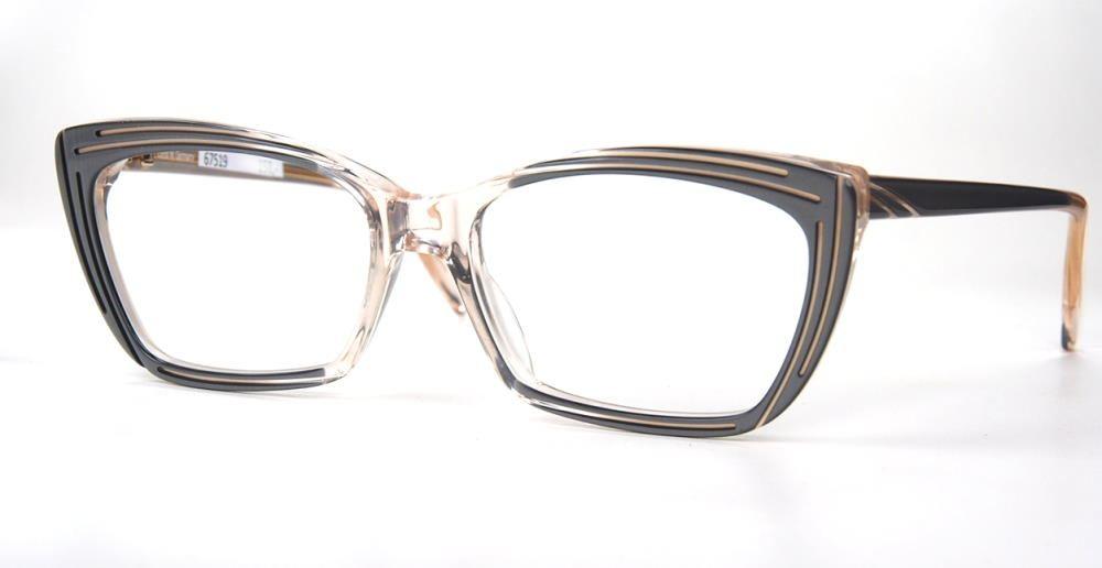 Cateye Brille der 90er Jahre von ZEISS aus Kunststoff