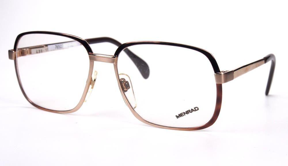 Kultbrille der 70er Jahre, große Herrenmetallbrille von Menrad Made in Germany
