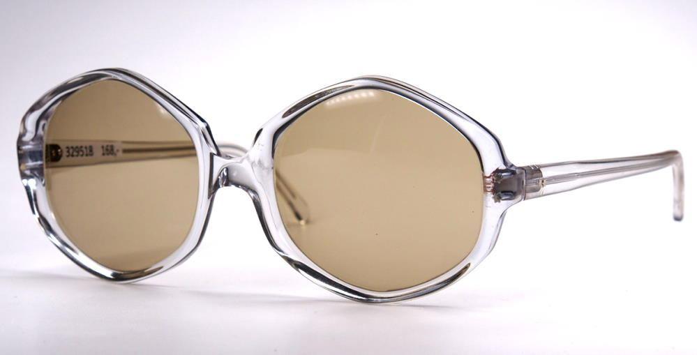 VintageSonnebrille große tranzparente Brille der 70er Jahre 329518