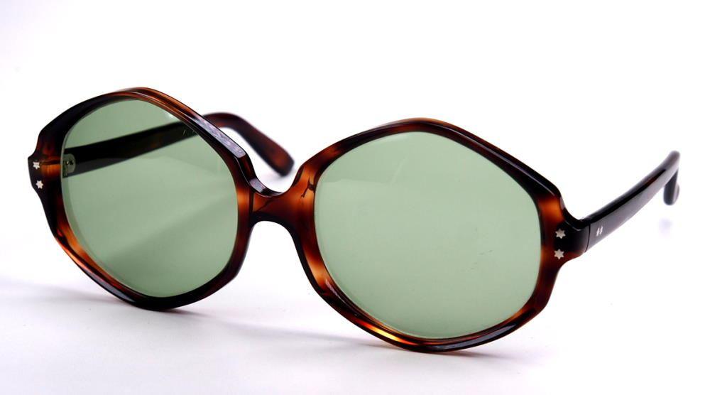 Vintage sechseckige Sonnebrille große Brille der 70er Jahre 339518