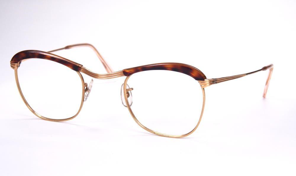 60er Jahre Brille aus Metall und Kunststoff, Rockabilly Brille,