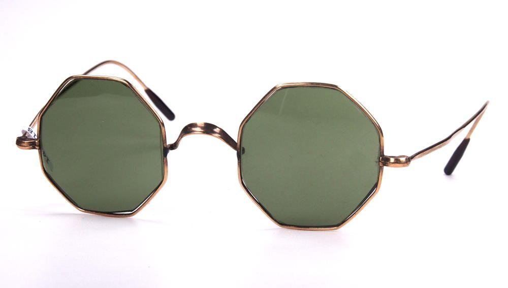 Achteckbrille echt Vintage als Sonnenbrille der 50er Jahre aus Golddouble149518