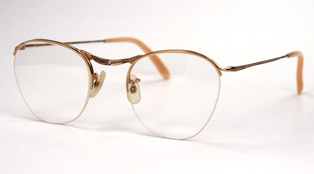 Algha Vintage Damenbrille der 30er Jahre Golddouble