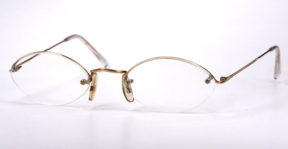 Algha, Saville Row,  Brille, oval 14 Karat Golddouble Made in England