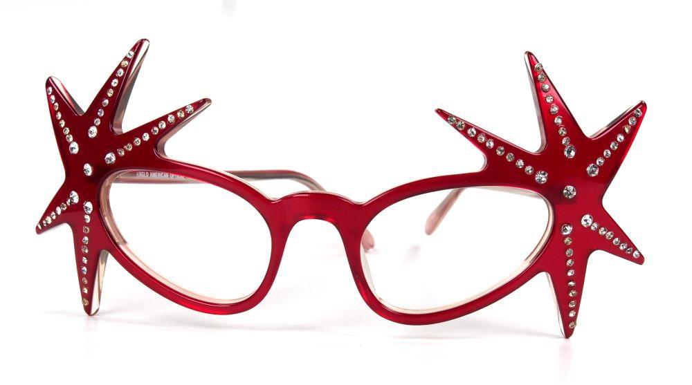 Anglo American Eyewear, Brille Mod. Stars mit Straß  Brillenmuseum Wilke Hamburg