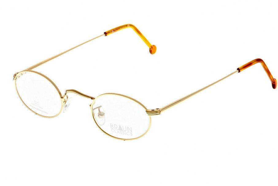 Braun Classics Eyewear, Modell 102 F2 vergoldet 22 Karat