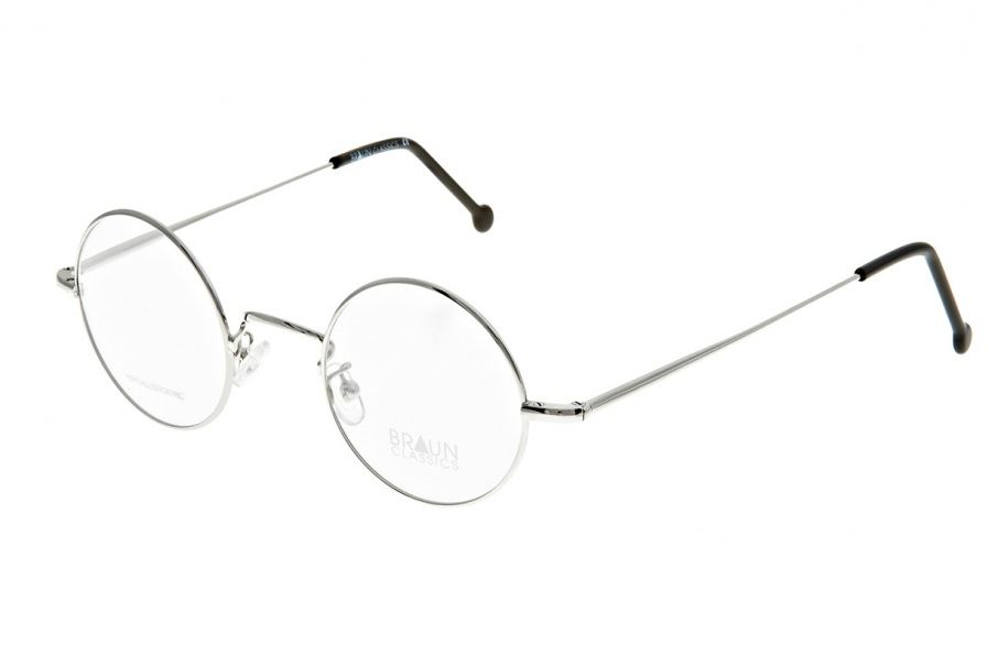 Braun Classics Eyewear, Modell 123 F1 Silber glanz
