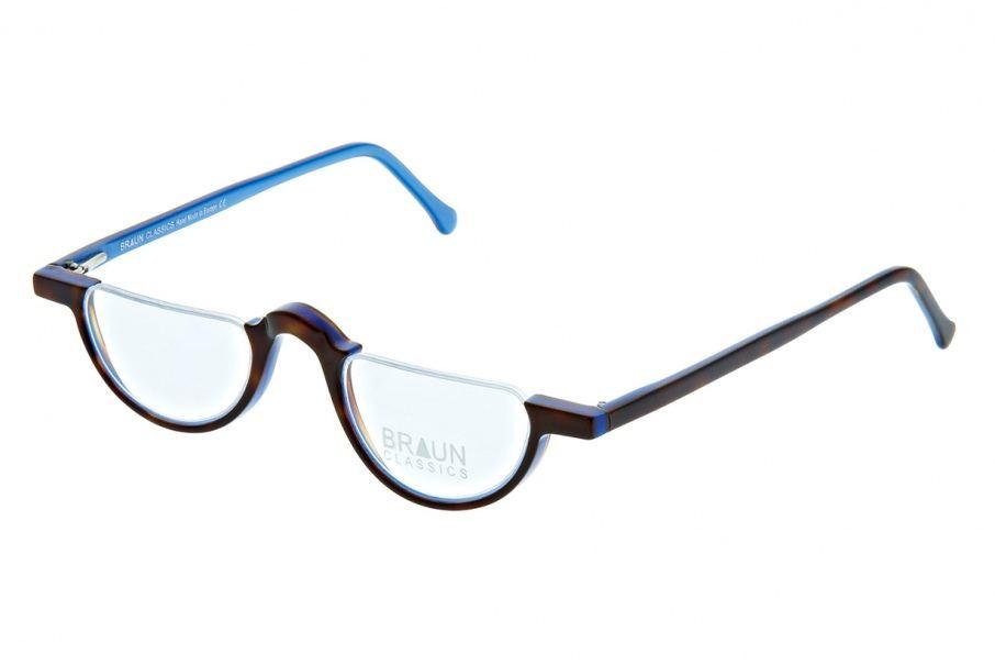 Braun Classics Eyewear, Modell 72 F25 Dunkelhavanna, Rücks. Blau