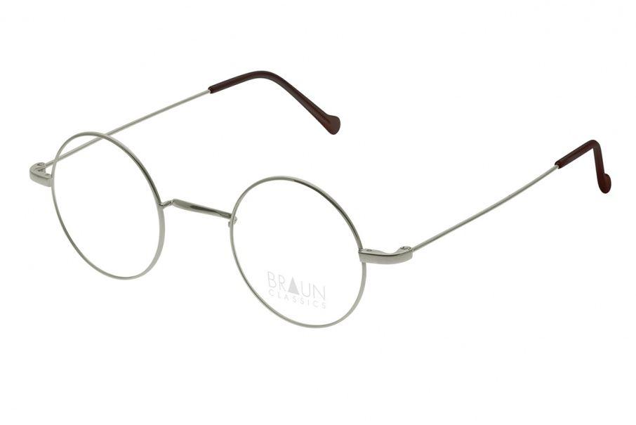 Braun Classics Eyewear, Modell 1002 F25 Grau/Gun aus Titan