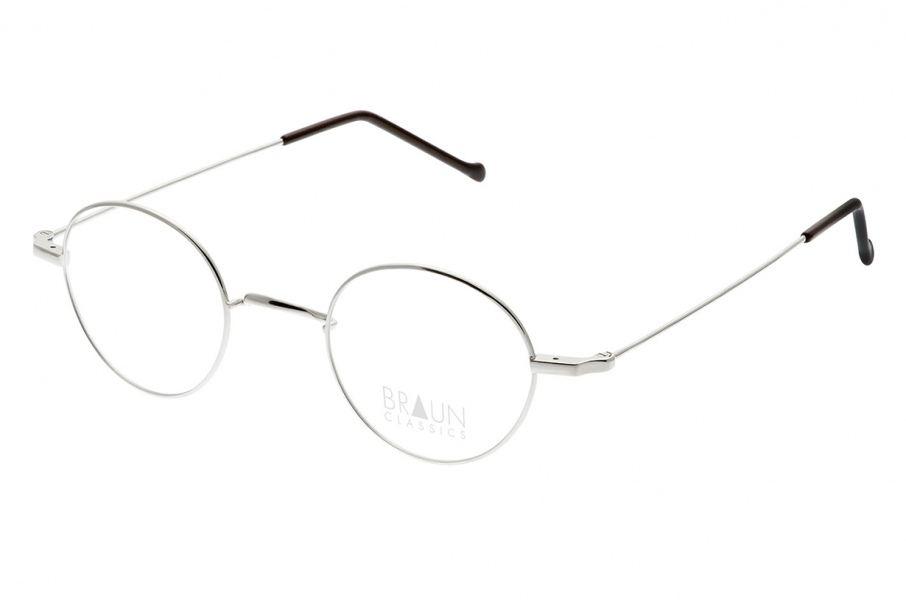 Braun Classics Eyewear, Modell 1003 F1 Silber Glanz aus Titan