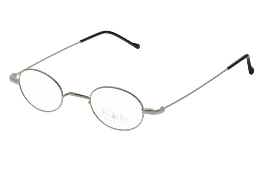 Braun Classics Eyewear, Modell 1004 F25 Grau/Gun aus Titan