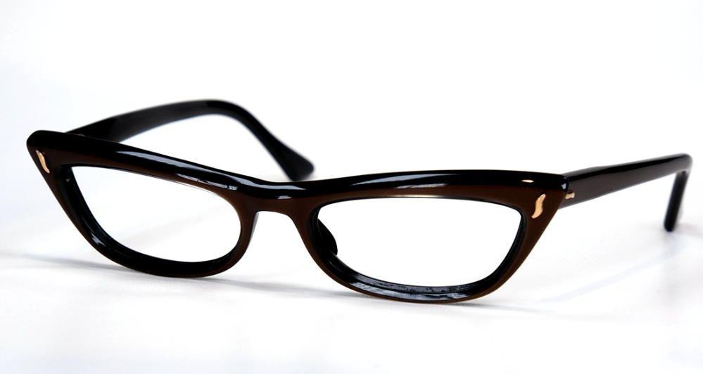 Echte Cateye Brille der 50er Jahre, echt Vintage hergestellt in 50er Jahren,