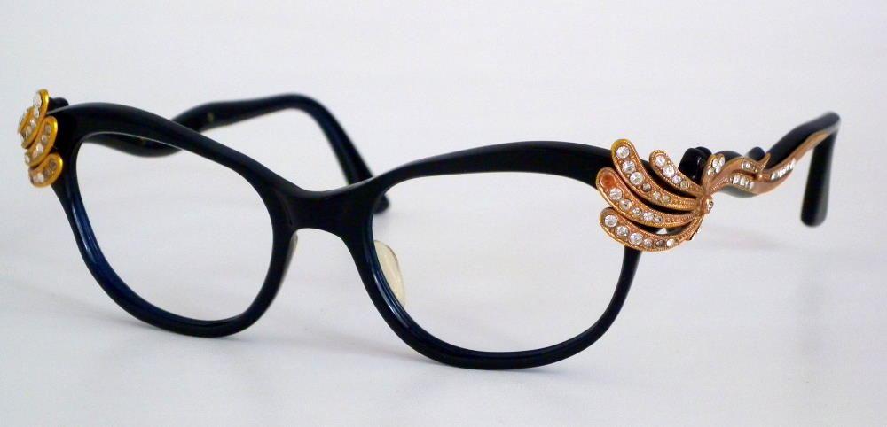 50er Jahre Schmetterlings Cateye Brille, Heritage. Einzelstück aus dem Brillenhaus Wilke Hamburg