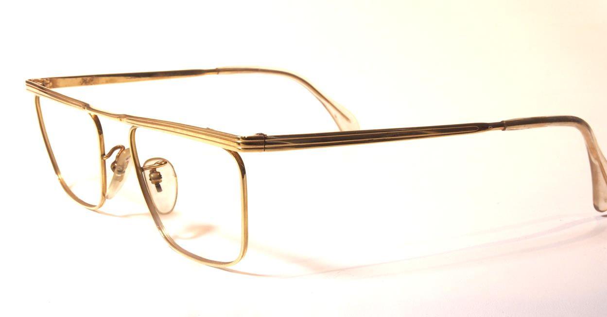 Goldbrille 585er Gold entspricht 14 Karat, Modell Oberbalken 1