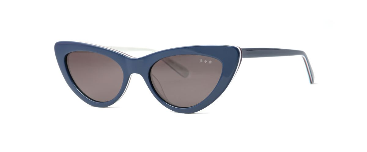 Hamburg Eyewear Hella Sun 91 signalblau, weiß hinterlegt