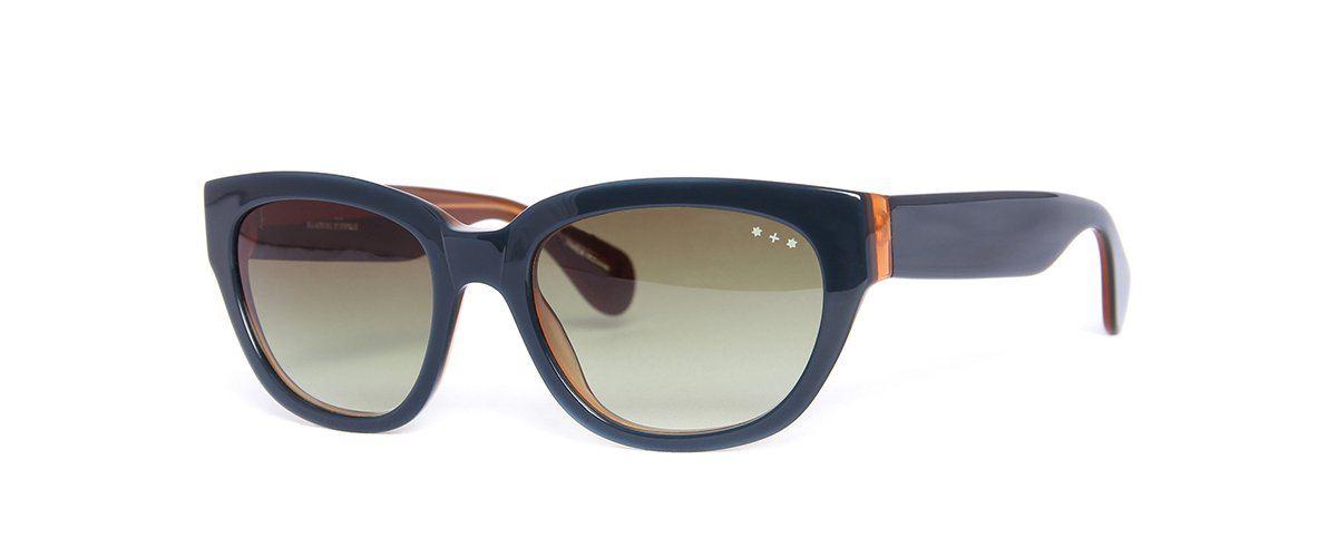 Hamburg Eyewear Lara Sun 37 deep blue, hellbraun hinterlegt