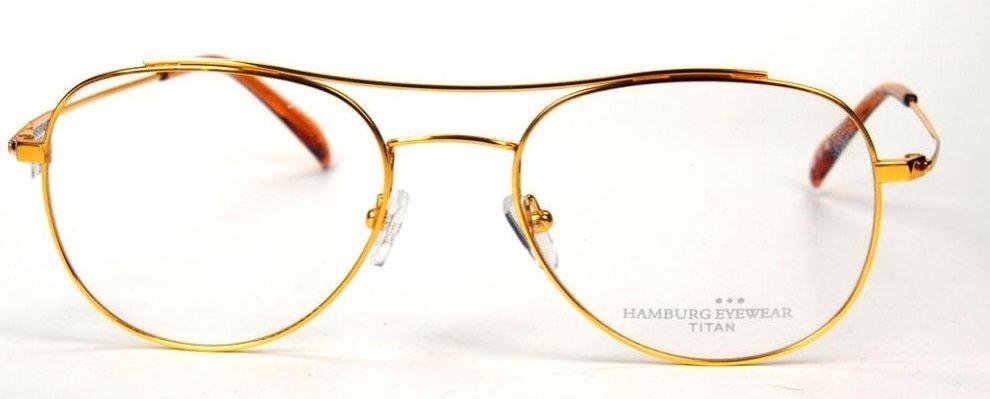 Hamburg Eyewear Sverre col 1 gold  aus Titan