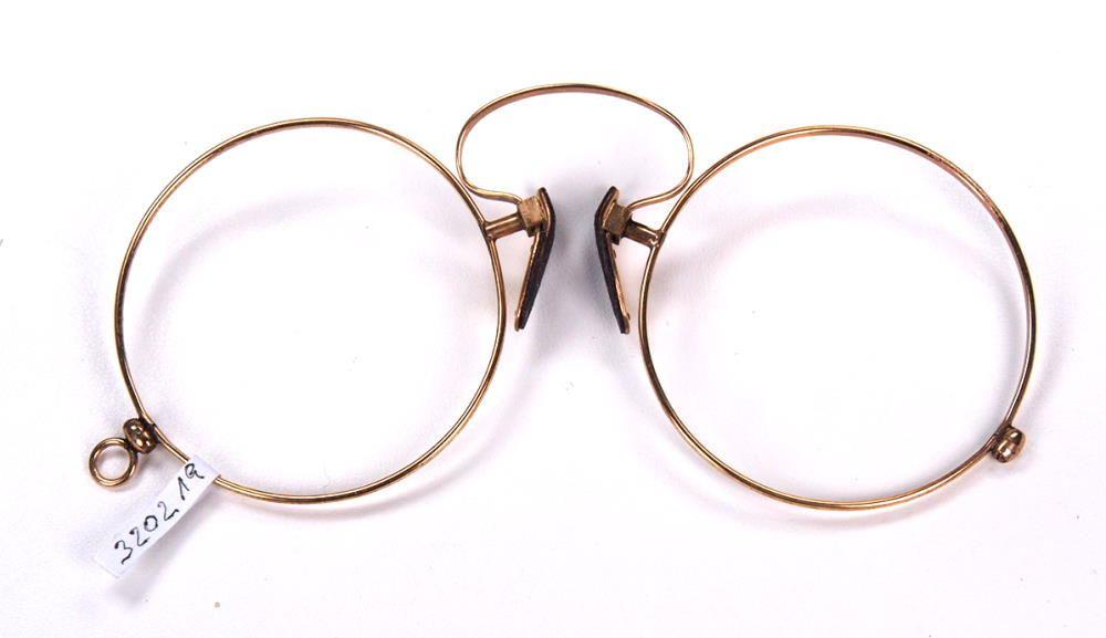 Runder Brillenkneifer, Zwicker, Pincenez, Kneiferbrille