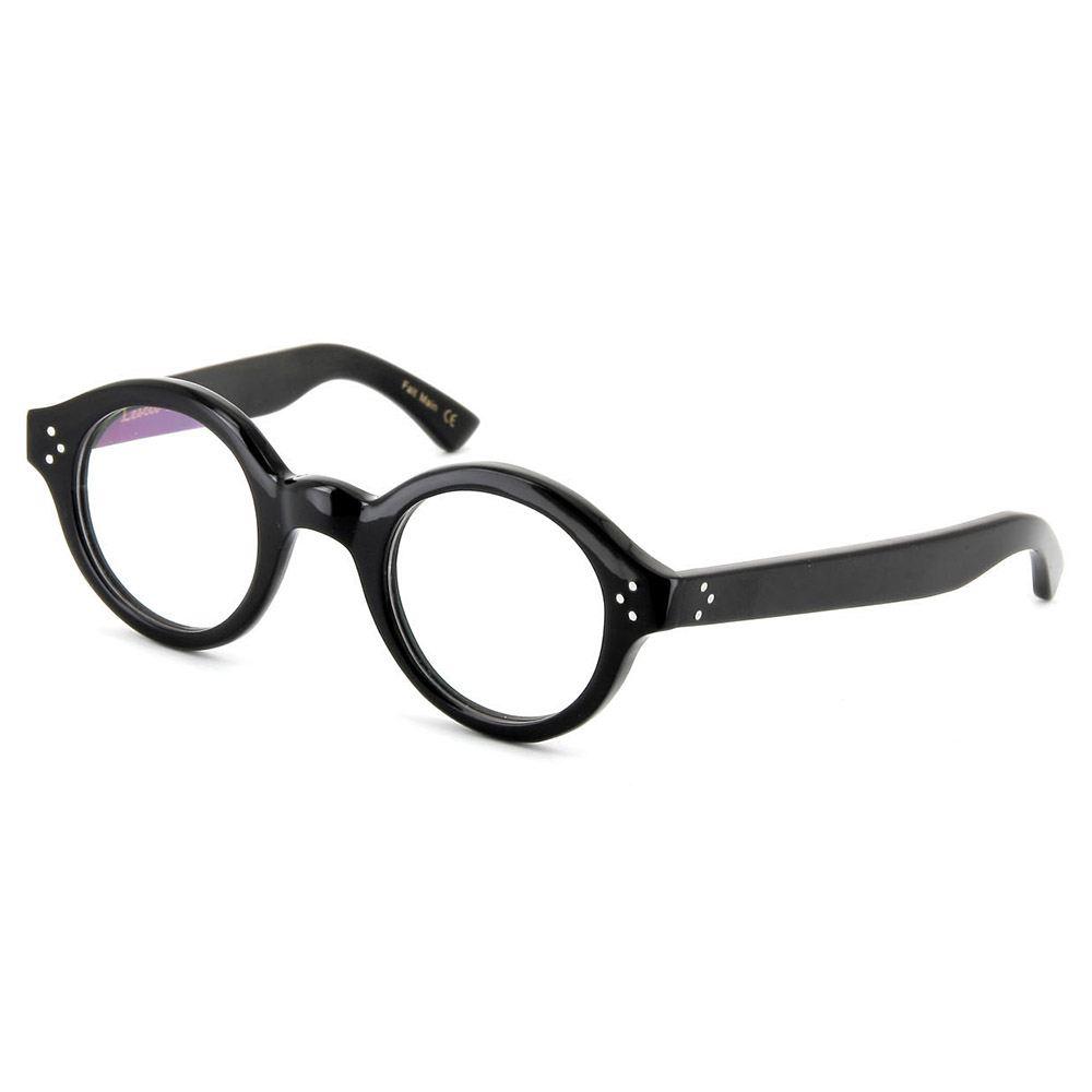 Lesca Corbs Pantobrille coole Brille massiv schwarz von Lesca Lunettes Frankreich