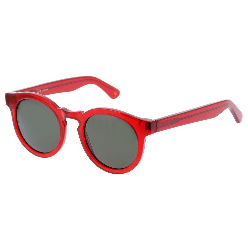 Lesca Lunettes Modell: Tilt, eyewear große rote Brille auch mit graugrünen Gläsern